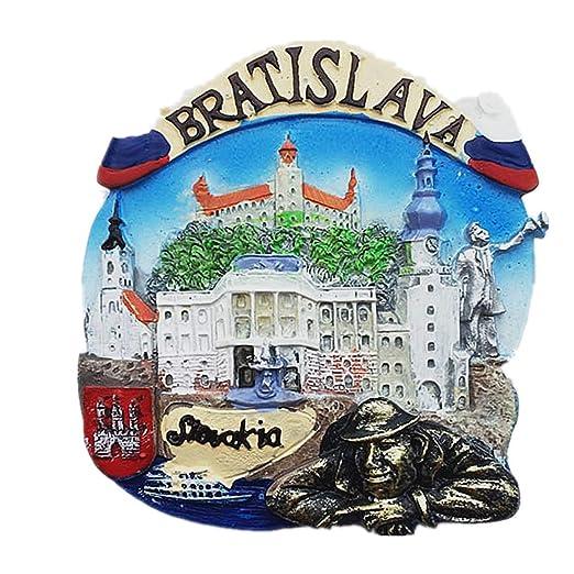 MUYU Magnet 3D Bratislava - Imán para Nevera, decoración del hogar ...