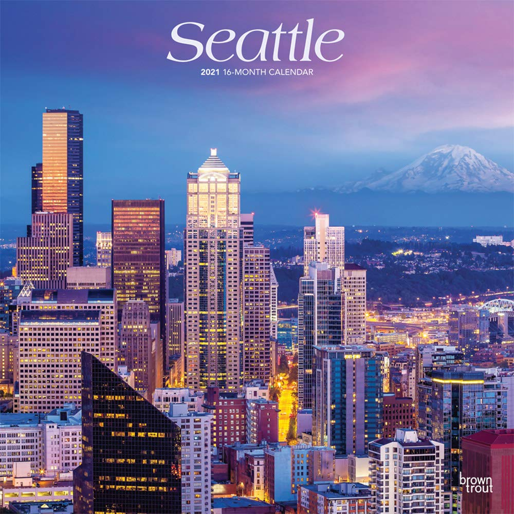 Seattle 2021 12 x 12 Inch Monthly Square Wall Calendar, USA United