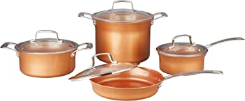Concord 8-Piece Ceramic Coated Copper Cookware