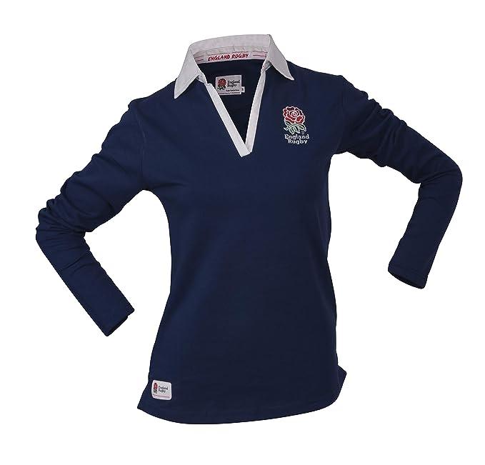 England Rugby - Camiseta de Rugby de Manga Larga para Mujer ...
