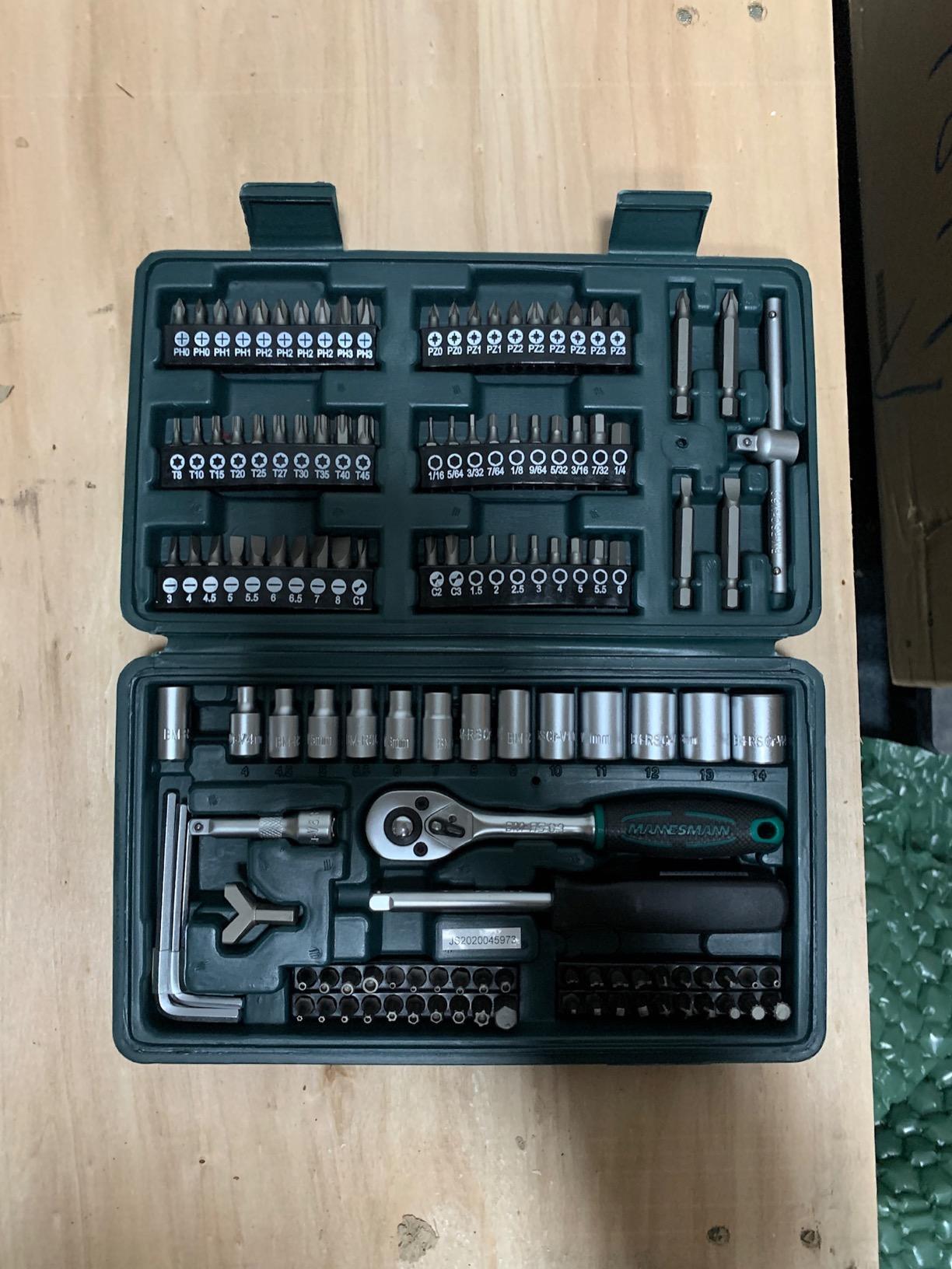 130-tlg Steckschlüssel und Bitsatz Werkzeugkoffer photo review
