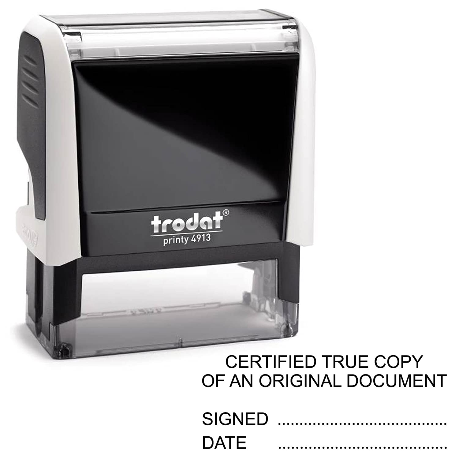 Ideal 100 COPY office Stock Self Inking Rubber Stamp RED TRODAT 4913