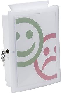 mit Seitenschloss und 2/Schl/üsseln Prospekthalter/aus hochwertigem Acryl My Charity Boxes Vorschlagbox