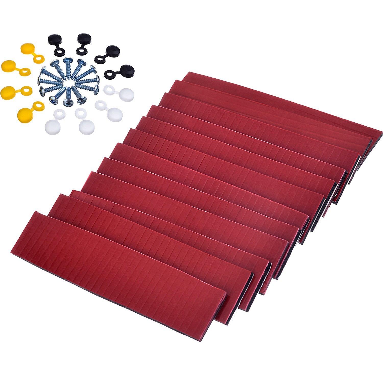 Almohadillas Adhesivas de Doble Cara con Tornillos y Casquillos para Matrículas Placa de Número Placa de Licencia de Coche Kit de Montaje Reparación, ...