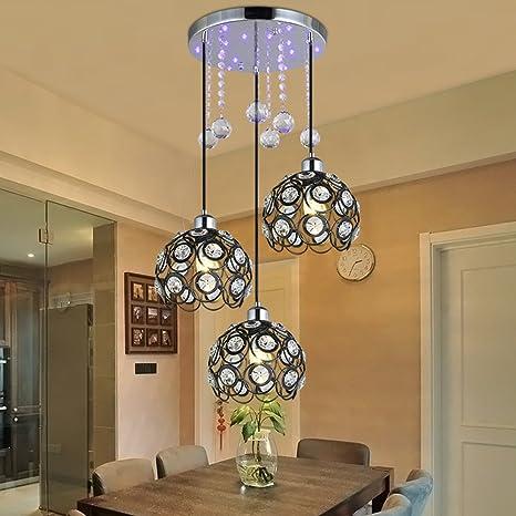 3 Color : Nero Moderno lampadario di cristallo Modello di ...
