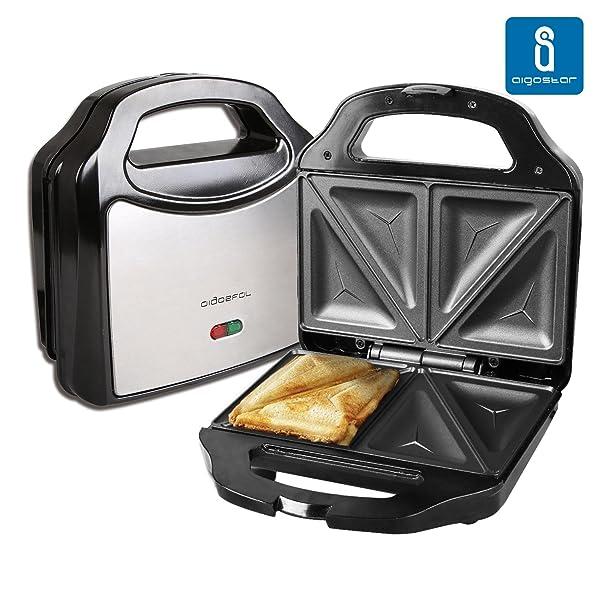 71E Zky AJL. SL600  Aigostar Cieplo Steel 30CEX, tostiera per sandwich farciti e tagliati a triangolo da 700 W