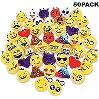 Sunliday 50Pack Emoji Llaveros, Suministros de Fiesta,Decoración del