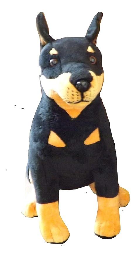 Amazon Com This Place Is A Zoo Doberman Pinscher Stuffed Dog 16