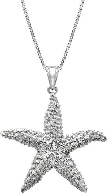 925 Sterling silver Hawaiian sea star starfish cz synthetic opal slider pendant