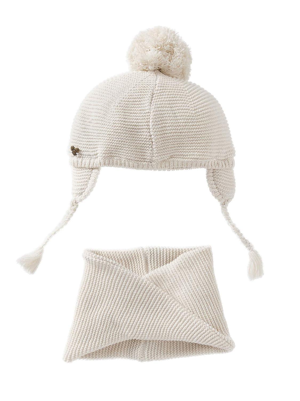 VERTBAUDET Bonnet + snood bébé fille IVOIRE 3/6M - 60/67CM