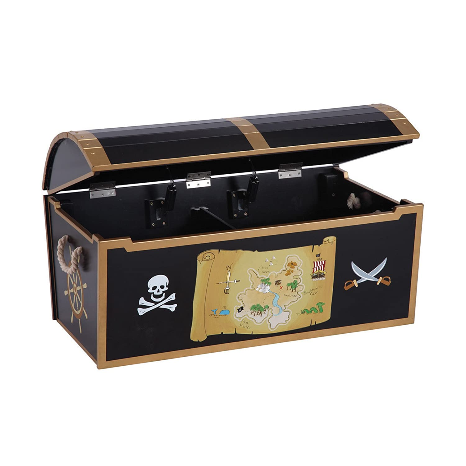 Amazon.com Guidecraft Hand-painted Pirate Treasure Chest - Toy Box Kids Storage Furniture Baby  sc 1 st  Amazon.com & Amazon.com: Guidecraft Hand-painted Pirate Treasure Chest - Toy ... Aboutintivar.Com