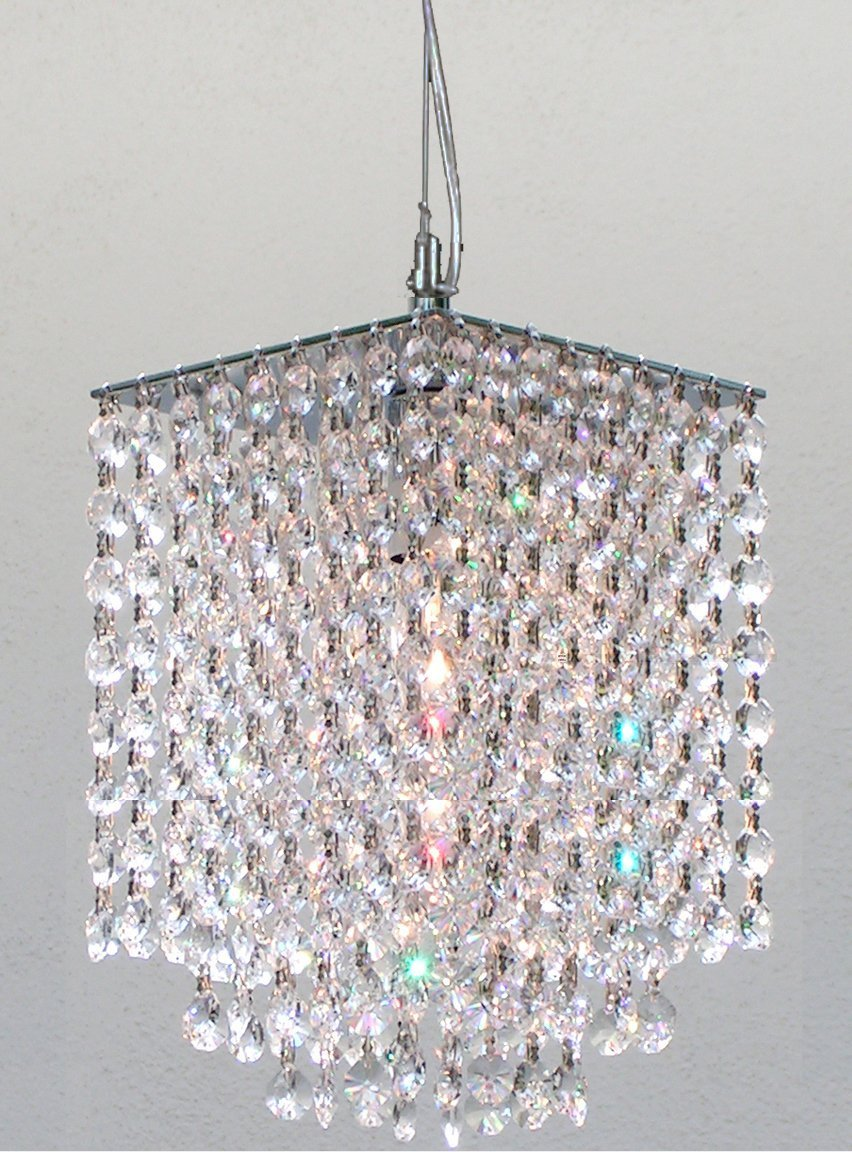 Modern Contemporary Crystal Pendant Chandelier Lighting H 9 X W 6 – Crystal Hanging Chandelier