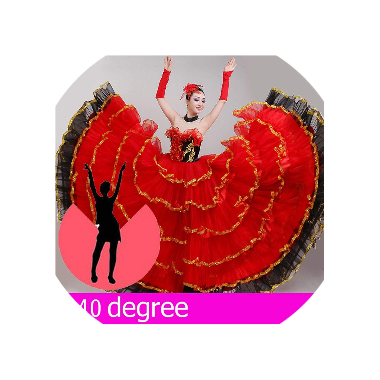 Flamenco Dress Flamengo Dancer Clothes Ballroom Dancing Dresses Stage Performance Dancewear,540 Degree,L by Colourful Day Dance Dress