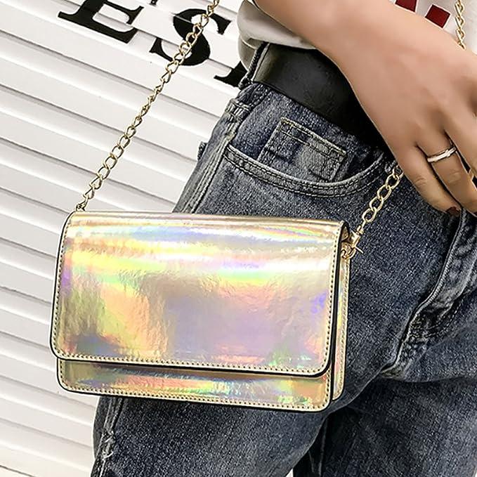Amazon.com: MILY Fashion Girls láser bolsa de cintura ...