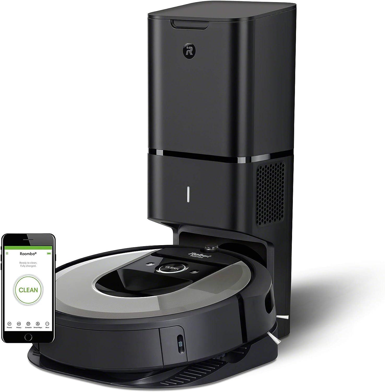 iRobot Roomba i7+ (i7556) -Robot Aspirador Wi-Fi, Autovaciado, Succión x10, Memoriza, Mapea y se Adapta a tu Hogar, Limpieza por Habitaciones, Dirt Detect, App Home, Depósito Lavable, Mascotas
