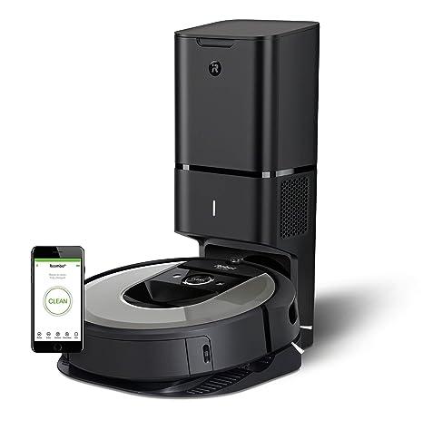iRobot Roomba i7+ (i7556) -Robot Aspirador Wi-Fi, Autovaciado, Succión x10, Memoriza, Mapea y se Adapta a tu Hogar, Limpieza por Habitaciones, Dirt ...