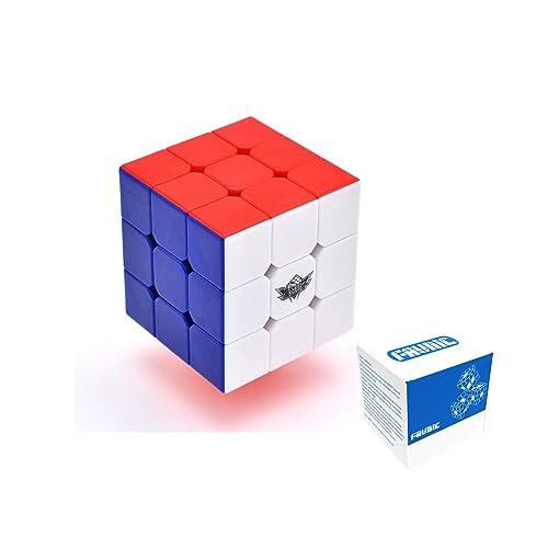 FAVNIC Cyclone Boys Speed Cube Stickerless Enhanced Version Smooth Magic Cube Puzzles(X-3X3X3) (XF333)