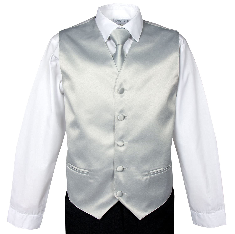 Spring Notion Boys 4-Piece Satin Tuxedo Vest Set