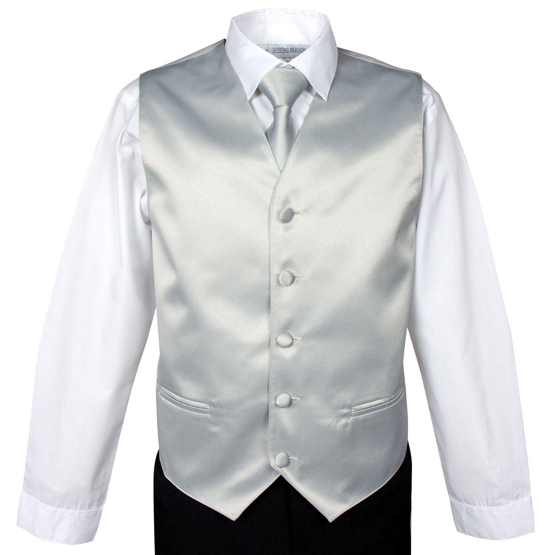 Spring Notion Boys' 4-Piece Satin Tuxedo Vest Set 14 Yellow by Spring Notion (Image #2)