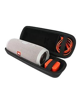 Khanka EVA Difficile Caso Viaggiare trasportare sacchetto per JBL Charge 3 Portatile Bluetooth senza Stereo altoparlanti,Adatto Caricabatterie e cavi
