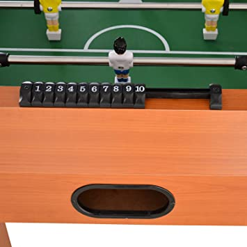HOMCOM Mesa de Futbolín para Casa o Salas de Juego Fácil de Montar ...