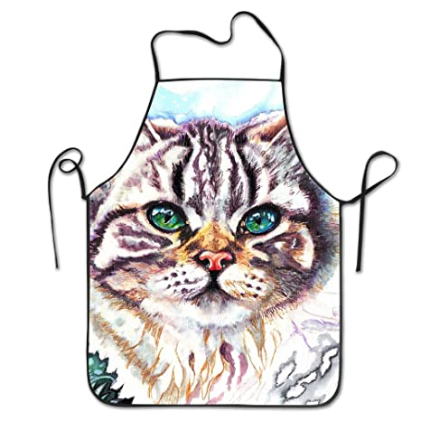 PINTURA gato delantales de cocina para mujeres y hombres ...