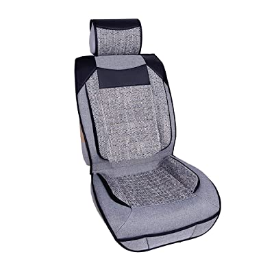 Qbedding Soothing Drive All Season Universal Fit Breathable Car Seat Cover (Senna, One Piece): Automotive