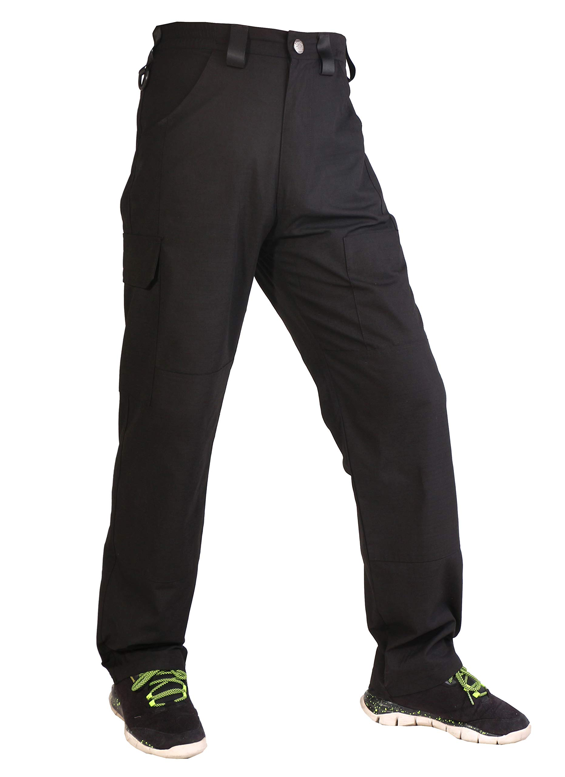 FFNIU Men's Work Pants Water Resistant Operator Cargo Trousers for Four Seasons