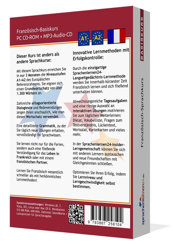 Sprachenlernen24.de Französisch-Basis-Sprachkurs: PC CD-ROM für ...
