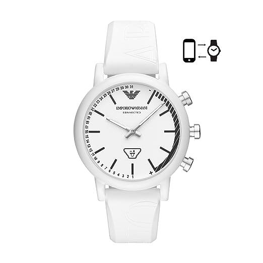c4d5bd56614c Emporio Armani Reloj Analógico para Hombre de Cuarzo con Correa en Silicona  ART3025  Amazon.es  Relojes