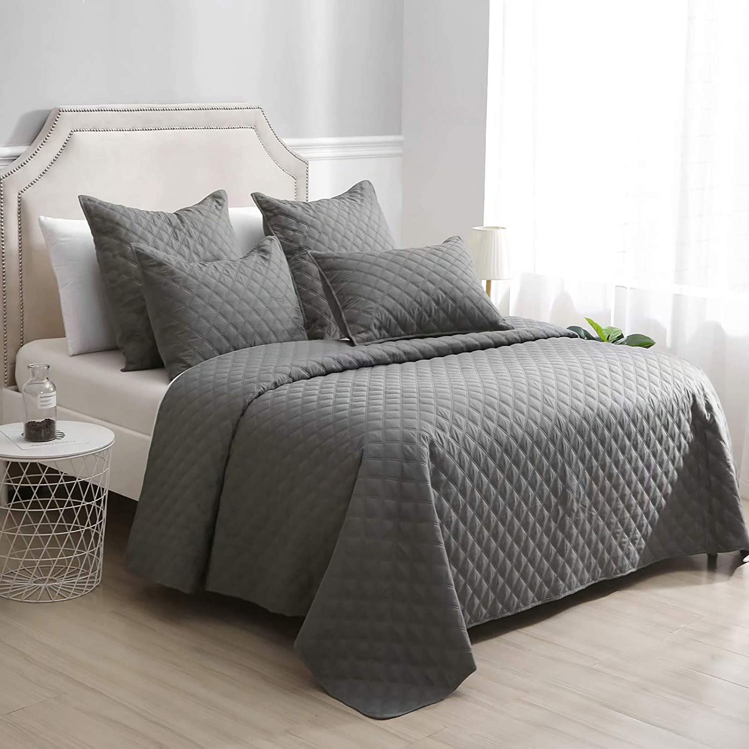AiJar Home Slate Grey 3-Piece Full/Queen Size (68