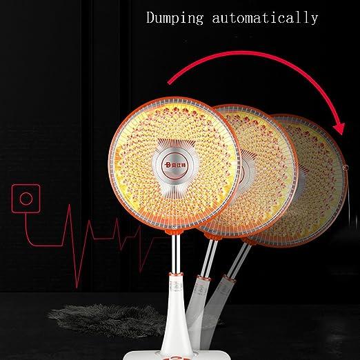 CAICOLORFUL calentador Calentadores eléctricos domésticos Sol de suelo Puede ajustar la altura de la calefacción eléctrica calentador para interior: ...