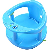 Lucakuins Newborn Infant Baby Bath Seat, Non-Slip Infants Baby Bath Chair for Bathtub, Cute Shape Baby Shower Chairs for…