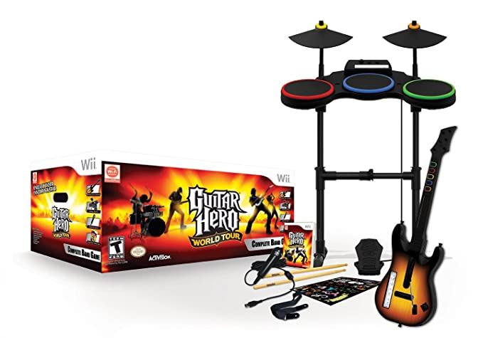 Activision Guitar Hero: World Tour (Band Kit), Wii - Juego (Wii