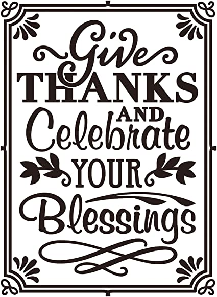 Darice Embossing Folder Pr/ägefolder-Schablone Give Thanks Celebrate-10,8 x 14,6 cm 10.8 x 14.6 x 0.11 cm Plastic transparent