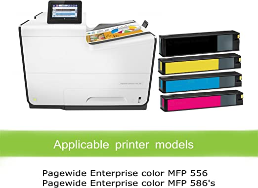 Works with: PageWide Enterprise Color 556dn Cyan 981A QSD Remanufactured Inkjet Replacement for HP J3M68A MFP 586f 556xh Free 1 to 2 Day DELIVERY Flow MFP 586z 2-Pack MFP 586dn