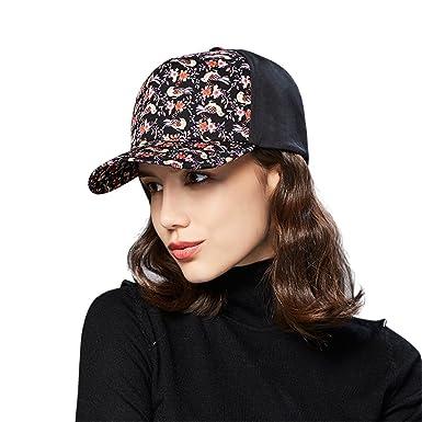 baad335acdf Kenmont Women s Cotton Baseball Cap 5 Panel Floral Pattern Outdoor Sports  Hat Visor Sun Cap (