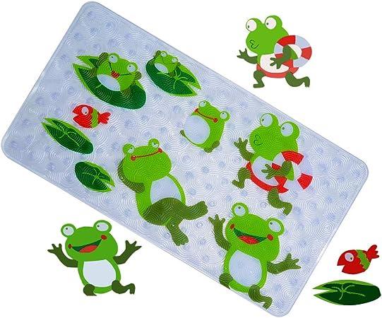 Anlass Kids Cartoon Non Slip Mats Mildew Resistant Non Slip Mats for Children Octopus