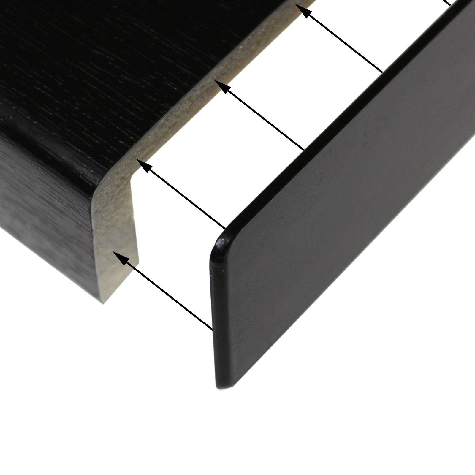Innovo 2.5 Metre 175mm Wide Black Ash Plastic PVC UPVC Window Cill Sill Facia Board