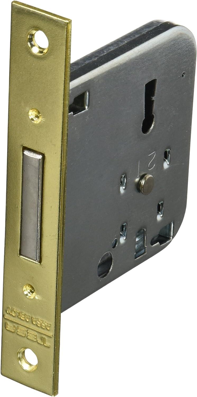 Tesa Assa Abloy, 200350HL Cerradura de embutir para puertas de madera 2003, Entrada 50mm, Latonado