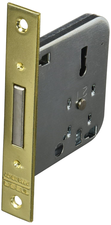 Entrada 50mm Latonado Tesa Assa Abloy 20045RHL Cerradura de embutir para puertas de madera 2004 Frente Redondeado