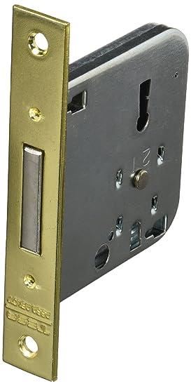 Tesa Assa Abloy, 200350HL Cerradura de embutir para puertas de madera 2003, Entrada 50mm, Latonado: Amazon.es: Bricolaje y herramientas