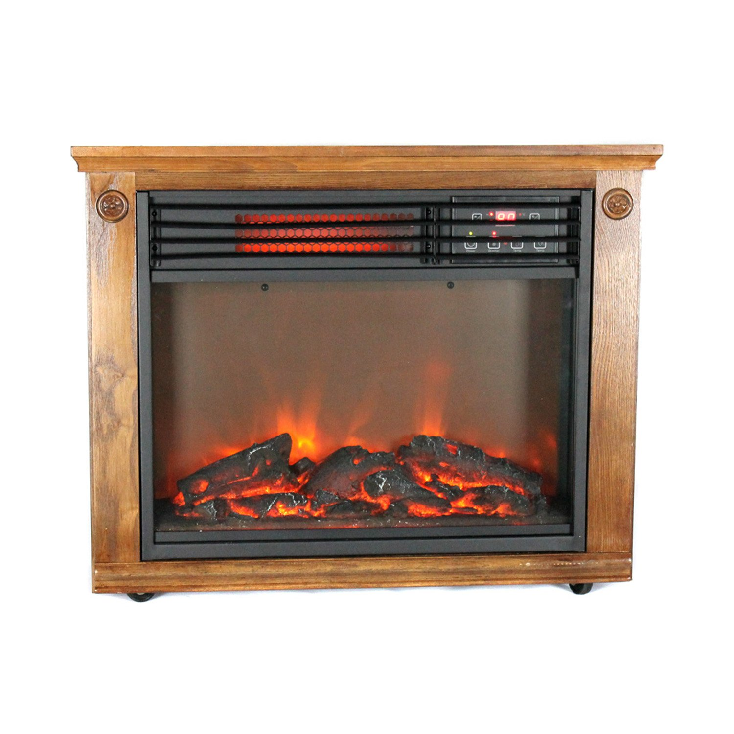 3 Element Electric Quartz Infrared Fireplace Heater