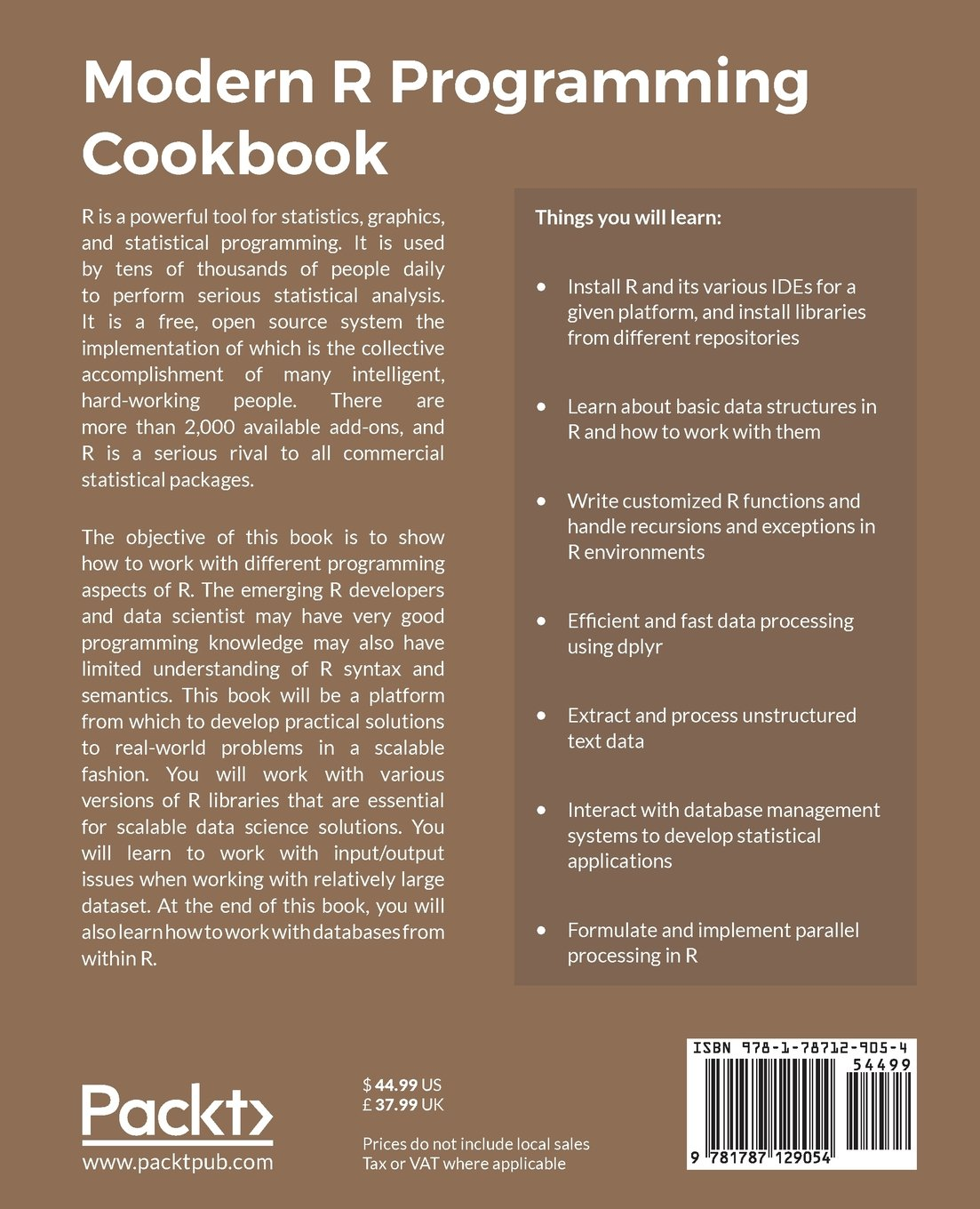 Modern R Programming Cookbook: Recipes to simplify your