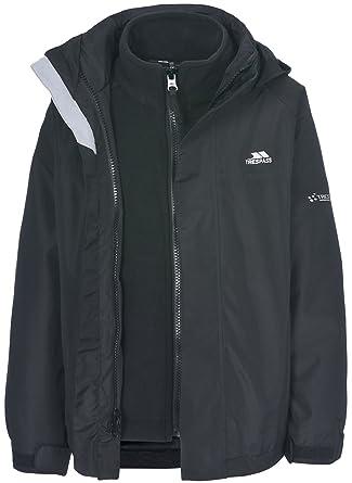 cf05eb2e4cef Kids Trespass Skydive 3in1 Jacket With Detachable Fleece  Amazon.co ...