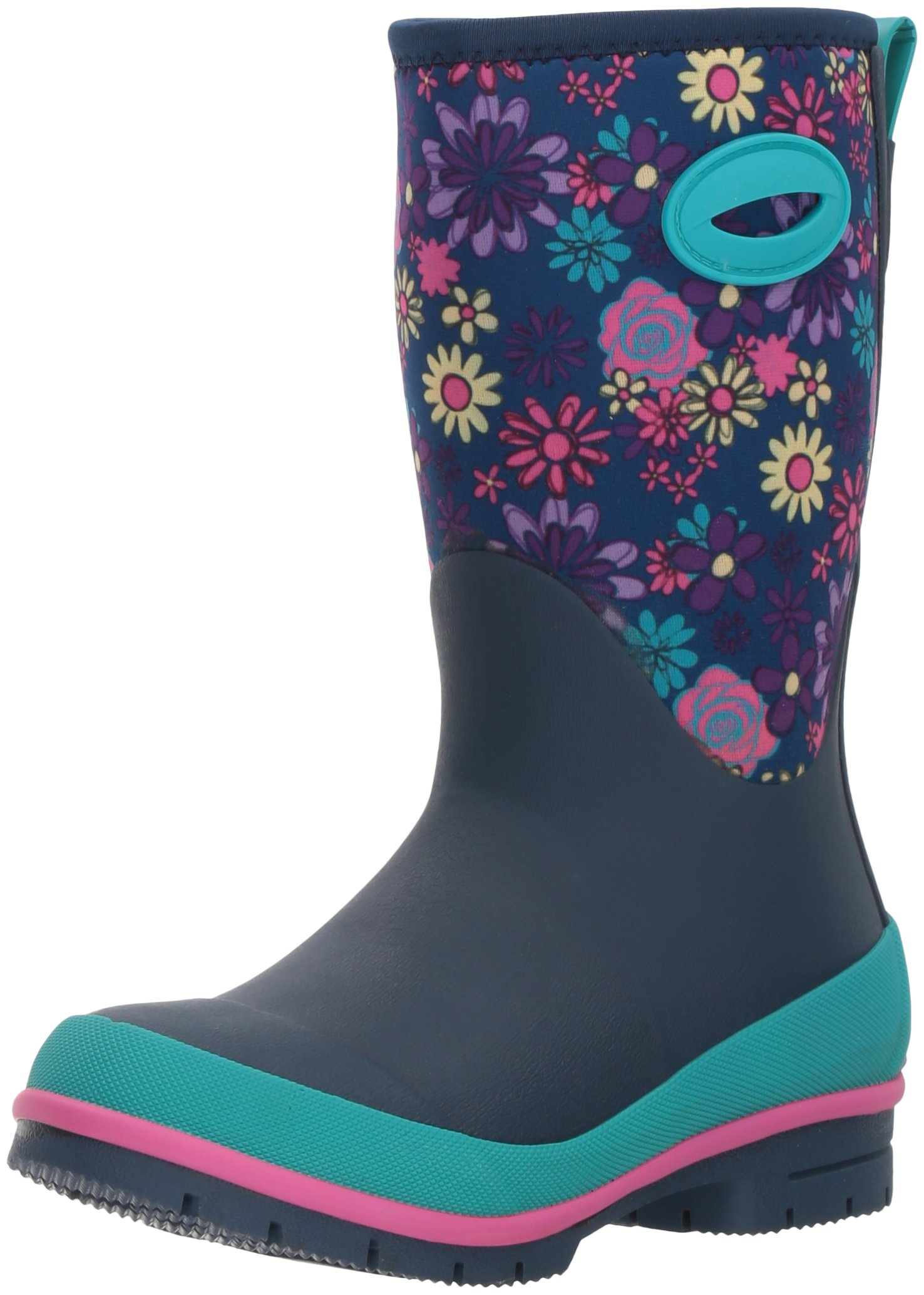 Western Chief Kids Cold Rated Neoprene Memory Foam Snow Boot, Wild Flower, 1 M US Little Kid