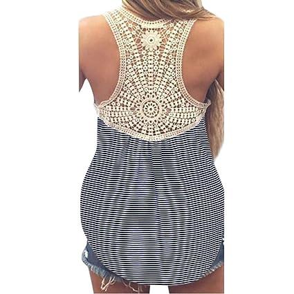 Camisas Sexy Mujer, ❤ Amlaiworld Blusas sexys de mujer verano talla grande Chaleco de