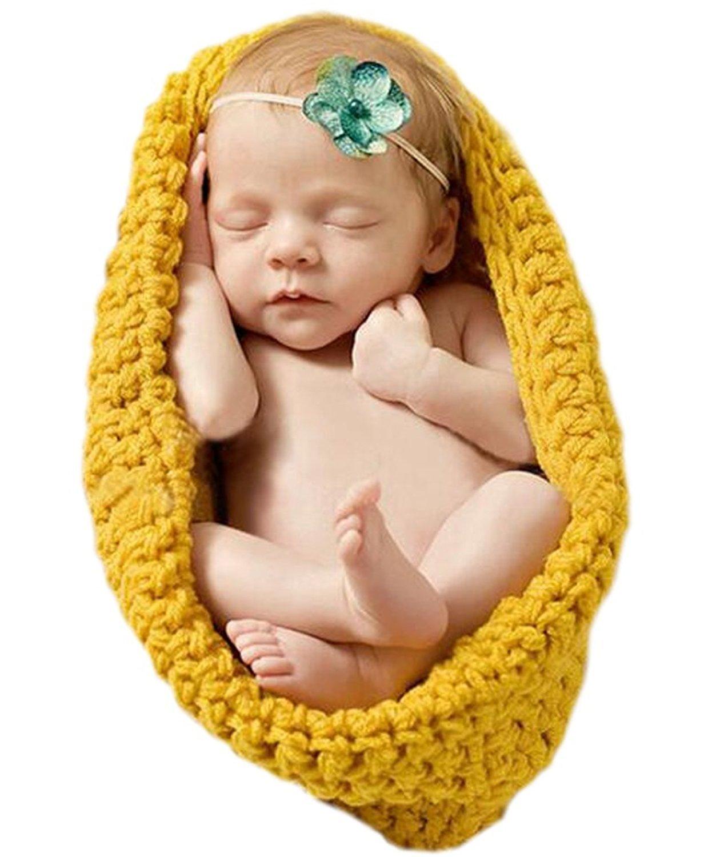 AKAAYUKO Neugeborenes Baby Handgefertigt Hä kelware Fotografie Kostü m (Schlafsack) Farbe Grü n grprops-136
