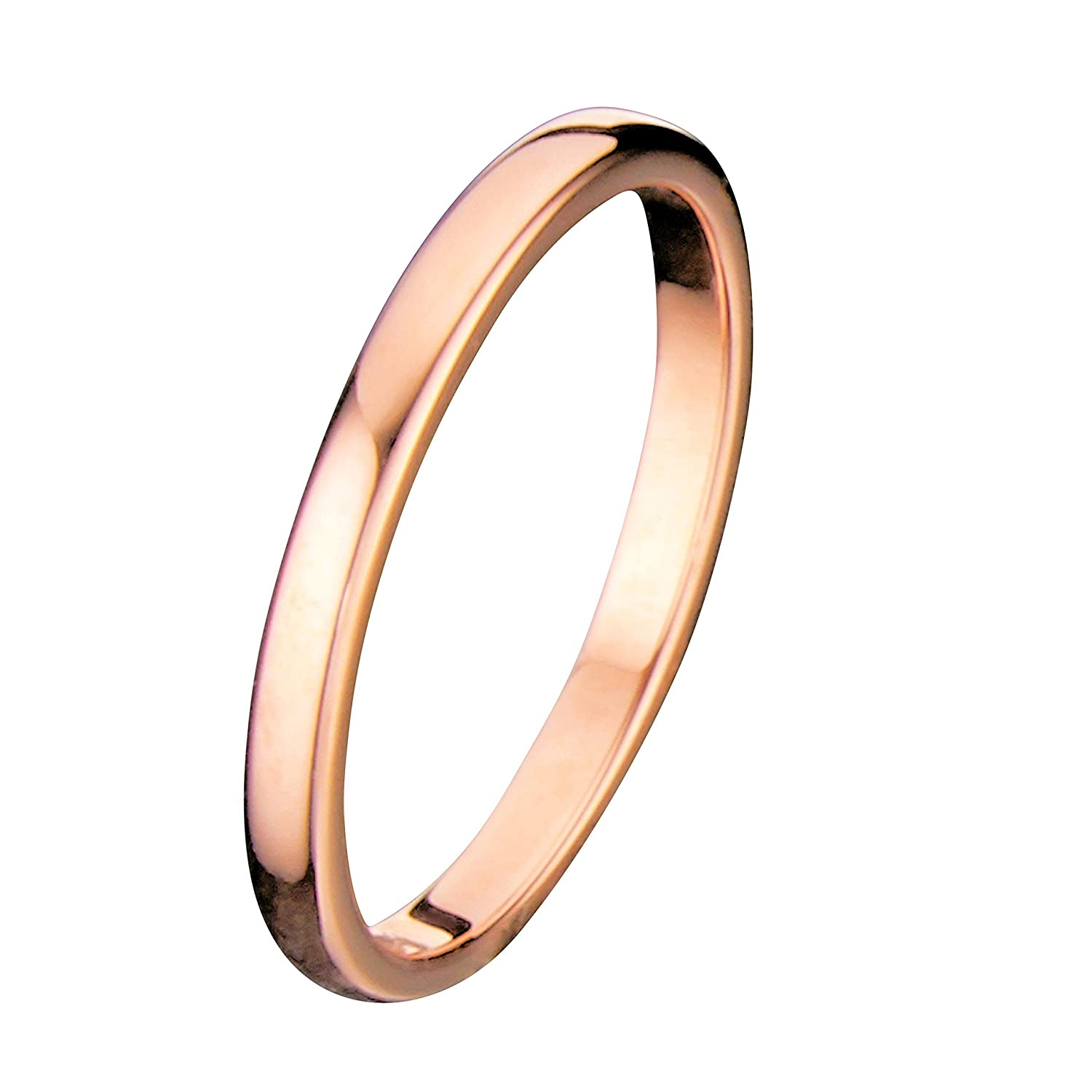 2mm thin rose gold plated ring tungsten carbide wedding band