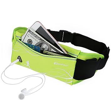 1badedff01 Konpad Running Belt Fanny Pack Waterproof Neoprene Waist Bag with Water  Bottle Holder Green